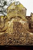 INDRA RIDES AIRAVATA, EAST PEDIMENT, EAST GOPURA IV, BANTEAY SREI, CAMBODIA