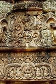 SHIVA, PARVATI & INDRA, EAST PEDIMENT, SOUTH TOWER, BANTEAY SREI, CAMBODIA