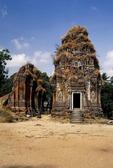 BRICK TOWERS, LOLEI. ROLOUS, ANGKOR, CAMBODIA
