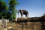 ELEPHANT ON THE FIRST TERRACE, EAST MEBON, ANGKOR, CAMBODIA