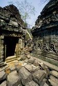COLLAPSED BUILDING STONES, PREAH KHAN, ANGKOR, CAMBODIA