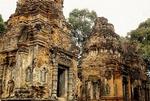 THREE BRICK TOWERS, PREAH KO, ROLOUS, ANGKOR, CAMBODIA