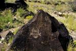 PETROGLYPH OF ARROW SWALLOWER. WEST MESA, ALBUQUERQUE, NEW MEXICO