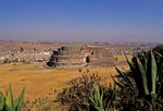 CIRCULAR TEMPLE OF THE WIND GOD, EHECATL, CALIXTLAHUACA, MEXICO, MEXICO