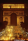 Arc de Triomphe and the Champs Elysées at night