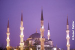 Blue Mosque illuminated at dusk