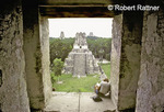 Tikal: Temple 2 from inside Temple 1