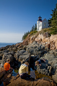 Bass Harbor Light, on the rocky coast of Maine in Acadia National Park, Downeast, ME