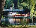 the Swan Boats, Boston Public Garden, Boston, MA