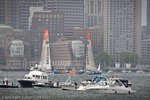 Volvo Ocean Racers in Boston Harbor, Boston, MA