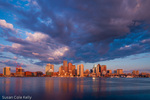 Sunrise on Boston Harbor, Boston, Massachusetts, USA
