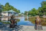 Summer at the Frog Pond in Boston Common, Boston, Massachusetts, USA