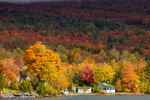 Autumn at Lake Willoughby in Westmore, Vermont, USA