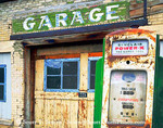 SCIPIO, UTAH. USA. Abandoned garage / gas station. Bypassed by the freeway.
