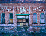 SALT LAKE CITY, UTAH. USA. COLD STORAGE. PURE ICE. Derelict Utah Ice & Storage Company Building.