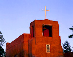 SANTA FE, NEW MEXICO. USA. San Miguel Chapel. Original adobe walls built ca. 1610. Destroyed 1680. Rebuilt 1693-1710, restored 1887. Oldest church structure in United States.