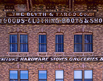 Historic Blyth & Fargo Company Building, built 1887. Downtown Evanston, Wyoming.