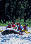FRANK CHURCH RIVER OF NO RETURN WILDERNESS, IDAHO. USA. Raft on Middle Fork Salmon River. Middle Fork Salmon Wild & Scenic River.