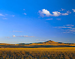 WYOMING. USA. Continental Peak & rangeland at sunset. Along the Continental Divide. Red Desert.