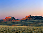 WYOMING. USA. Oregon Buttes at sunrise. View from the Continental Divide. Red Desert.