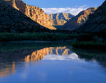 UTAH. USA. Green River at sunrise. Desolation Canyon. Proposed Book Cliffs-Desolation Canyon BLM Wilderness.