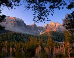GREAT BASIN NATIONAL PARK, NEVADA. USA. Wheeler Peak & Jeff Davis Peak at sunrise. Snake Range.