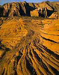 SNOW CANYON STATE PARK, UTAH. USA. Cross-bedded sandstone at sunrise. Snow Canyon.