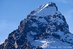 GRAND TETON NATIONAL PARK, WYOMING. USA. Summit of Grand Teton in winter. Teton Range.