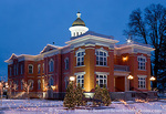 LOGAN, UTAH. USA. Cache County Courthouse at Christmas.  Original building finished 1883, renovated 2005.