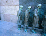 "WASHINGTON, D.C. USA. Franklin Delano Roosevelt Memorial. Detail, ""The Bread Line"", sculpture by George Segal. National Mall."