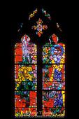 WASHINGTON, D.C. USA. Stained glass inside Washington National Cathedral.