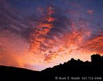 ANZA-BORREGO DESERT STATE PARK, CALIFORNIA. USA. Altocumulus clouds at dawn. Little Blair Valley.