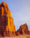CAPITOL REEF NATIONAL PARK, UTAH. USA. Temple of the Moon & Temple of the Sun. Cathedral Valley.