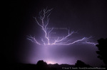 UTAH. USA. Cloud to cloud lightning in thunderstorm over Cache Valley at night.