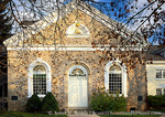 """UTAH. USA. Historic """"Old Rock Church"""" in autumn. LDS (Mormon) church completed 1873. Providence, Cache Valley."""
