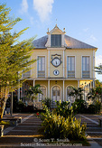 MARTINIQUE. French Antilles. West Indies. Building rebuilt to resemble one in the 1902 financial district of the town of St. Pierre. St. Pierre was destroyed by the 1902 eruption of the volcano Pelée.