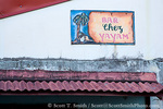 MARTINIQUE. French Antilles. West Indies. Sign at Bar Chez Yayam' in  St. Pierre.