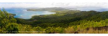 MARTINIQUE. French Antilles. West Indies. View of Caravelle Peninsula looking torward mainland. Réserve Naturelle de la Caravelle.