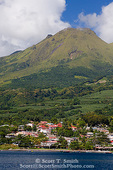 MARTINIQUE. French Antilles. West Indies. Town of St. Pierre at foot of 1397 meter Montange Pelée (Mt. Pelée). An active volcano, Pelée's 1902 eruption destroyed St. Pierre and killed nearly 30,000.