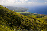 MARTINIQUE. French Antilles. West Indies. View of Caribbean coast & town of St. Pierre from slopes of Mt. Pelée.