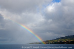 MARTINIQUE. French Antilles. West Indies. Rainbow over harbor at St. Pierre.