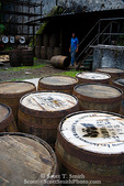 MARTINIQUE. French Antilles. West Indies. J.M. Distillery in Macouba. Oak barrels ready to be filled with rum for aging.
