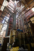 MARTINIQUE. French Antilles. West Indies. J.M. Distillery in Macouba. Distillation tower used to make rum.