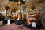 MARTINIQUE. French Antilles. West Indies. St. Pierre. Old copper distillation equipment in museum on grounds of Depaz rum distillery.