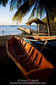 MARTINIQUE. French Antilles. West Indies. Fishing boat on beach at Anse Dufour.