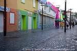 MARTINIQUE. French Antilles. West Indies. Fort-de-France. Shops along pedestrian avenue closed for Carnival.