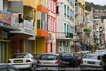 MARTINIQUE. French Antilles. West Indies. Busy street in Fort-de-France.