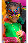 MARTINIQUE. French Antilles. West Indies. Fort-de-France. Young Martiniquan girl dressed in costume during Carnival.