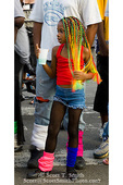 MARTINIQUE. French Antilles. West Indies. Fort-de-France. Young girl specator at parade during Carnival.
