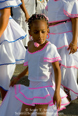 MARTINIQUE. French Antilles. West Indies. Fort-de-France. Young girl dancer in parade during Carnival.
